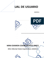 Mini Examen Cognoscitivo Manual Mecccc