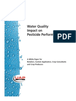 Water Quality Impact on Pesticide Performance