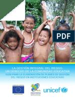 LA GESTIÓN INTEGRAL DEL RIESGO. Un Derecho de La Comunidad Educativa