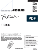 Manual Etiquetadora PTE-500 Brother