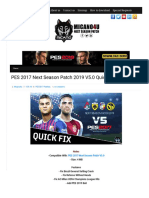 PES 2017 Next Season Patch 2019 V5.0 Quick Fix