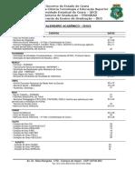 Calendário Academico - 2018.2