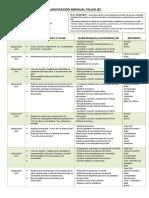 planificación Reforzamiento Lenguaje 4ºA lenguaje