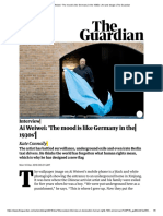 Ai Weiwei_ 'the Mood is Like Germany in the 1930s' _ Art and Design _ the Guardian