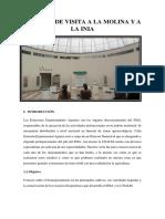 Informe de Visita a La Molina y a La INIA