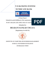 A STUDY ON E-BANKING SYSTEM IN SYNDICATE BANK.doc