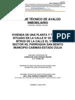 Informe Técnico de Avlúo Inmobiliario Febrero 2018