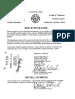 Brady Evidence Notice
