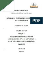 Manual de Inst, Oper y Mntto