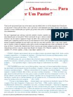 Estudo Chamado Para Pastor