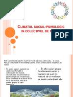 Climatul Social Psihologic