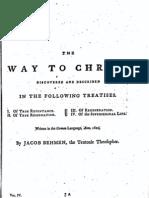 Jacob Böhme Vol 4 - III - The Way to Christ