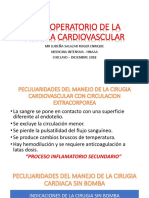 Post Operatorio de La Cirugia Cardiovascular