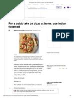 Indian Flat Bread Pizza