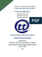 informe de practicas instituto tecnotronic juliaca puno