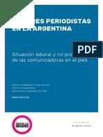 Mujeres Periodistas Argentina Informe FOPEA