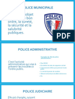 Police Municipale / Administrative / Judiciaire