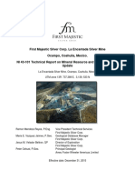 Technical Report on Mineral Resource and Mineral Reserve  Update