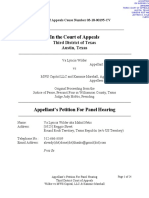 Appellant Petition for Panel Hearing (File Stamped)