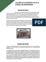 Las 5 Principales Obras de La Ingenieria Civil de La Edad Media y Del Renacimiento