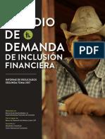 Segunda Toma Del Estudio de Demanda de Inclusión Financiera