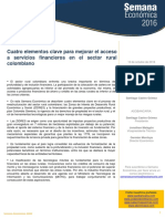 Cuatro Elementos Clave Para Mejorar El Acceso a Servicios Financieros en El Sector Rural Colombiano