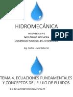 Hidromecanica 09 Ecuaciones Fundamentales