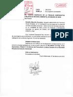 Francisca Chura solicita a Fiscalía que programe diligencia de constatación