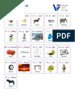 Illustrated Alphabet Italian
