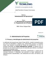 Administración de Operaciones temas 5 y 6