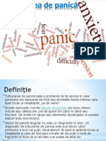 Tulburarea de Panică