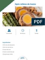 Albondigon Relleno de Huevo