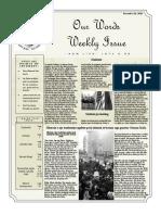 Newsletter Volume 9 Issue 40