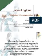 Cours 1. Introduction à La Programmation Logique