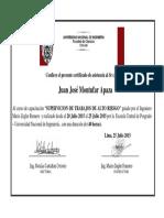 Certificado Curso de Alto Riesgo
