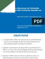 RBC y Desarrollo Inclusivo Basado en La Comunidad
