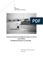 Analisis Del Programa de Rehabilitacion Integral en La Red de Salud_MINSAL