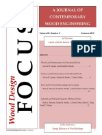 A Journal of Contemporaru Wood Engineering
