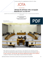 O Ativismo Do Ativismo Do Ativismo_ STJ e Revogação Judicial Do Art. 1015 Do CPC - JOTA Info
