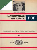 Rosa Luxemburg - L'Accumulazione Del Capitale (1960, Einaudi)