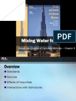 EB001 CH5 - Mixing Water for Concrete