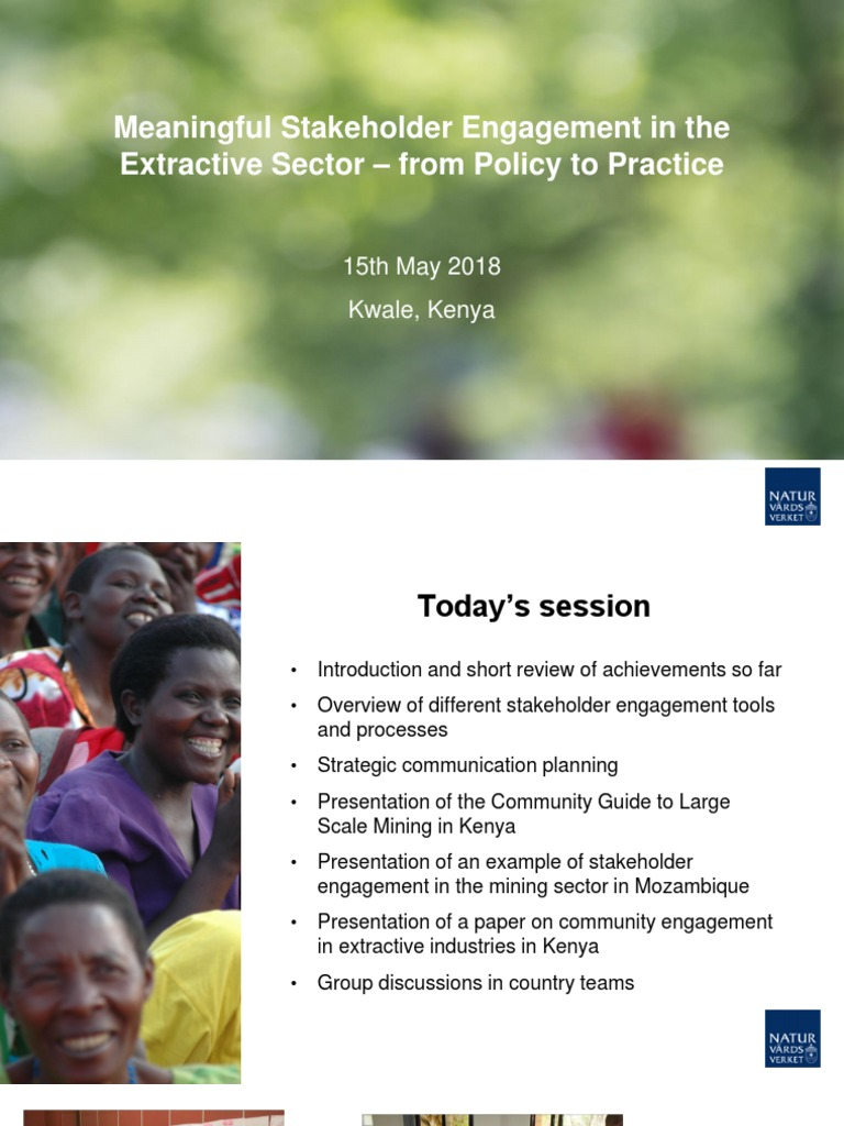 Meaningful Stakeholder Engagement In The Extractive Sector Strategic Communication Target Audience