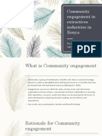 Community Engagement in the Extractive Sector in Kenya