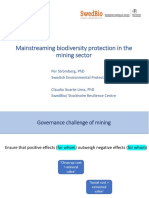 Mainstreaming Biodiversity Protection in the Mining Sector