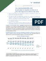 La Tasa de Actividad en España Se Sitúa en El 58'7 La Cifra Más Baja de Los Últimos Diez Años