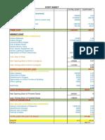 Denim Cost Sheet