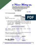 18074 Cotizacion Fabricacion 1 Bandeja 07-03-2018
