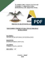 Proyecto de Investigacion arquitectura