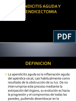 Apendicitis Aguda y Apendicectomia
