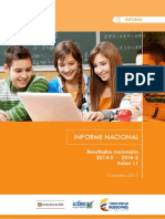 Informe Nacional de Resultados Del Examen Saber 11 - 2014